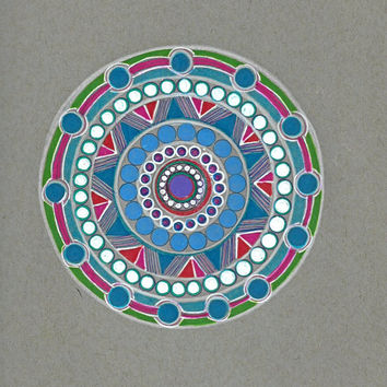 Colorful Mandala Art, Original Drawing