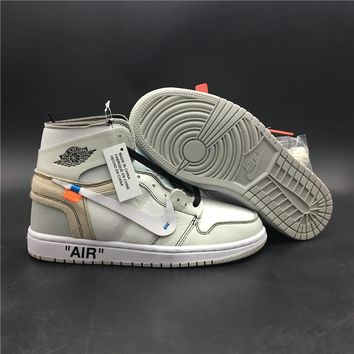 Nike Air Jordan 1 x Off-White Sport Sneaker