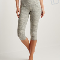 LLD Heathered Pocket Crop Leggings