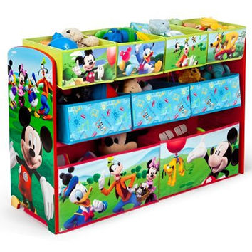 Delta Children Disney Mickey Mouse Deluxe Multi-Bin Toy Organizer