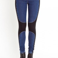 Denim Chap Leggings | NASTY GAL | Jeffrey Campbell shoes, Evil Twin, MinkPink, BB Dakota, vintage dresses + more!