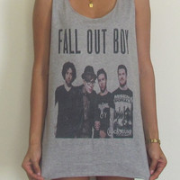 Fall Out Boy Vest Tank Top Singlet T-Shirt Paramore My Chemical Romance Panic At The Disco