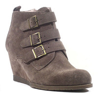 Taupe Solo Suede Wedge Bootie