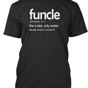 Mens Mens Funcle Definition T Shirt Funny Gift For Uncle