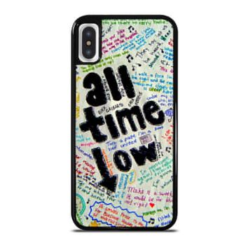 ALL TIME LOW COLOUR iPhone X Case Cover