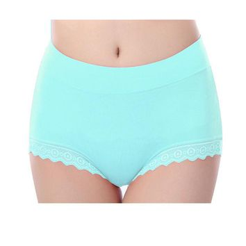 DKF4S Women Briefs Modal Lace Seamless Underwear High Waist Cotton Knickers Female Ladies Girl Panties Solid Breathable Plus Size
