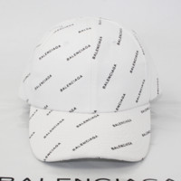 Balenciaga Fashion Casual Print Outdoor Cotton Baseball Cap Hat White