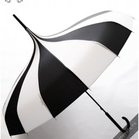 Carousel umbrella black-white | GOTHIC, METAL, PUNK, LOLITA & STEAMPUNK FASHION ACCESSORIES FOR MEN AND WOMEN