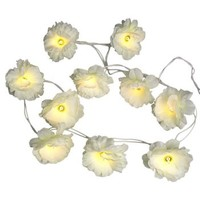 Garland Of Ivory Gardenia Fairy Lights