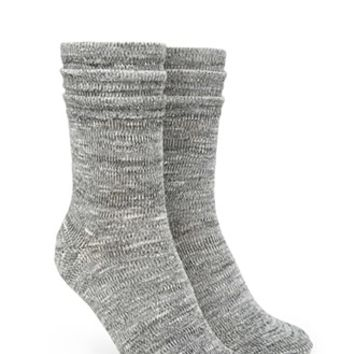 Ruched Crew Socks