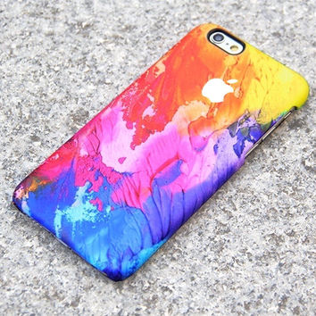 Retina 3D wrap Case Abstract Water color painting Matte plastic