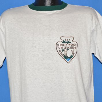70s Boy Scouts of America North Woods Chief Okemos t-shirt Large