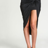 Knotted Asymmetrical Jersey Skirt