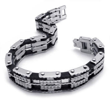 Men & Woman's Couples Titanium Steel Matching Bracelet Jewelry-Option Woman's