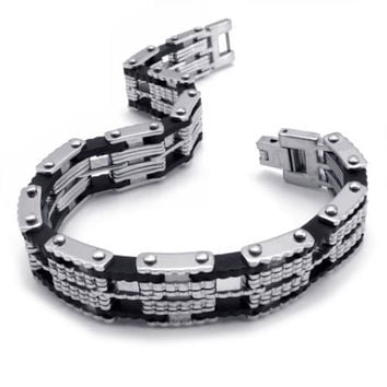 Men & Woman's Couples Titanium Steel Matching Bracelet Jewelry-Option Men's
