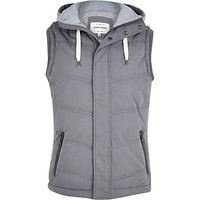 River Island MensGrey casual padded vest