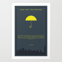 How I Met Your Mother - Yellow Umbrella Art Print by Creation Factory