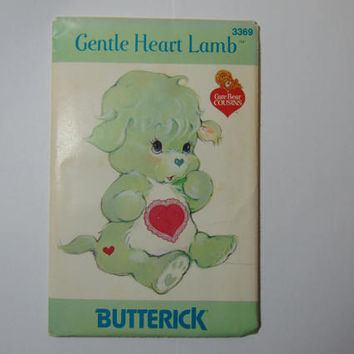 Butterick 3369 Gentle Heart Lamb Care Bear Cousin Sewing Craft Doll Pattern UNCUT