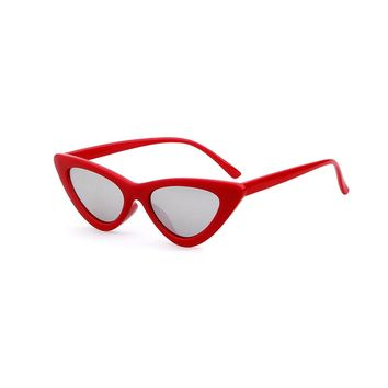 Red Mirrored Cat Eye Sunglasses