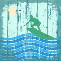 Green Leaf Art 'Surfing I' Wall Art, Small
