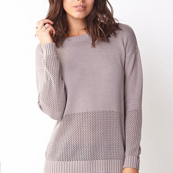 Show Off Mixed Knit Sweater