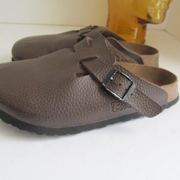 Birkenstock Brown Clog Shoes Brown Slip on Shoes sz 35 Euro Clogs Brown Clogs sz 4 Birks Shoes Slip on Clog Mules