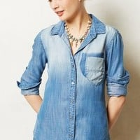 Sunwashed Chambray Buttondown by Cloth & Stone Light Denim S Tops
