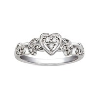1/8ct tw diamond promise ring in sterling silver. - Fashion - Diamond Rings - Jewelry & Gifts