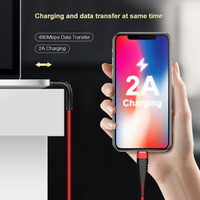 USB Cable For Lightning iPhone X 10 8 7 High Tensile Braid Charging Data Cable