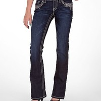 Miss Me Sequin Drip Boot Stretch Jean
