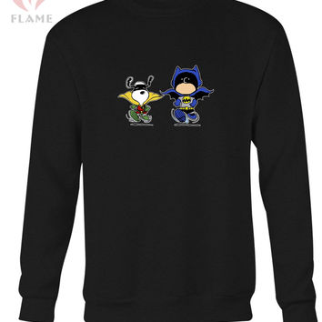 Funny Batman And Robin Peanuts Long Sweater