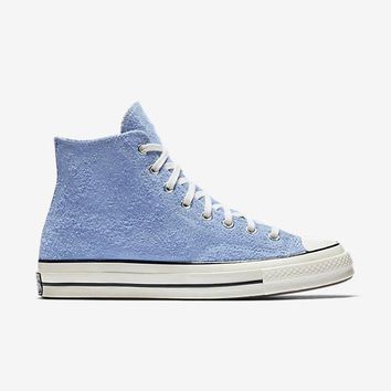 auguau CONVERSE CHUCK TAYLOR ALL STAR '70 VINTAGE SUEDE HIGH TOP - PIONEER BLUE / EGRET / EGRET