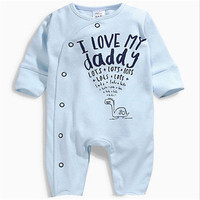Children Baby Romper Toddler Newborn Kids Baby Boy Girls Warm Infant Jumpsuit Romper Love Dad Love Mom Clothes