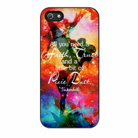 Disney Tinkerbell Quote iPhone 5s Case