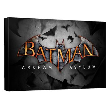 Batman Arkham Asylum - Logo Canvas Wall Art With Back Board