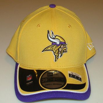 New Era Hat Cap NFL Football Minnesota Vikings Reverse 39THIRTY L/XL Flex Fit