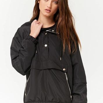 Hooded Mesh-Lined Anorak