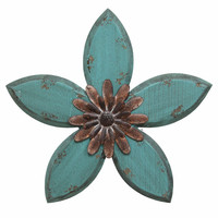 SHD0165 Stratton Home Decor Antique Flower Wall Decor