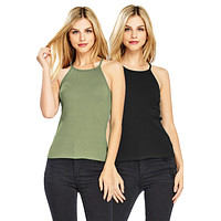Essential Ribbed Tank Top (2 PK)