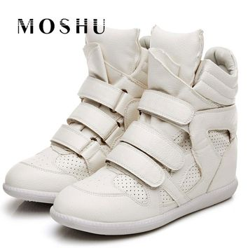 Designer Women Winter Ankle Boots Female High Top Platform Hook Loop Height Increased Sneakers Casual Shoes Bottes