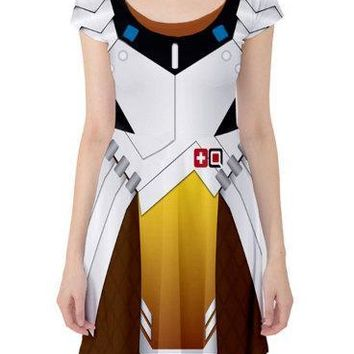 2017 Super Cool Cosplay Costume Stretchy Elastic Dress Hot Game OW Women Hero D.VA Cartoon Print Dress