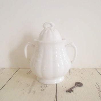 Ironstone Sugar Pot Wm. Adams And Sons English Ironstone Lidded Sugar Bowl With Lid