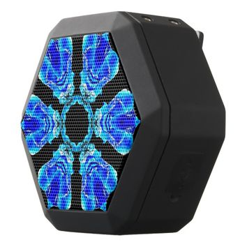 Blue Petals Black Bluetooth Speaker
