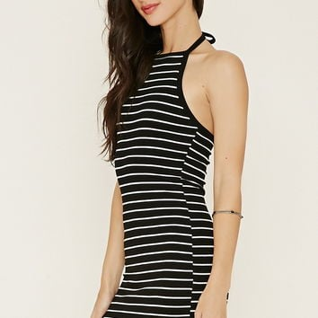 Stripe Halter Dress | Forever 21 - 2000150279