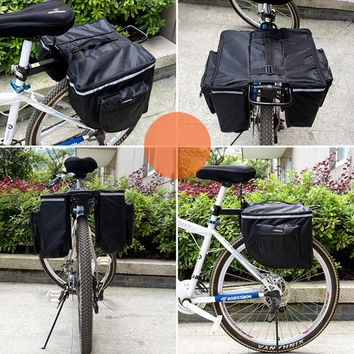 Black Color Riding Cycling Bike bag Bicycle Carry Rear Seat Trunk Bag bike bicycle pannier parts bisiklet aksesuar 25L