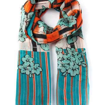 Etro floral striped scarf