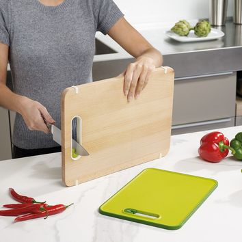 Multi-functioned Pottery Knife Wooden Big Size Chopping Block [6432337286]