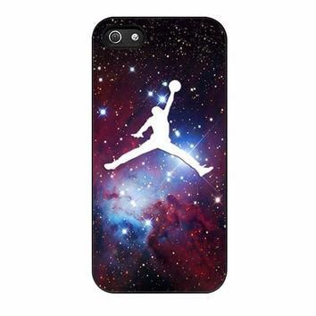 michael air jordan art jumping star cone nebula iphone 5 5s 4 4s 5c 6 6s plus cases