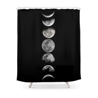 Society6 Phases Of The Moon Shower Curtain