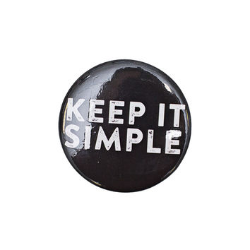 Keep it Simple Black Button